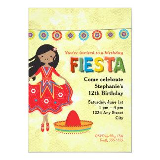 La fiesta mexicana colorida embroma a la fiesta de invitación 12,7 x 17,8 cm