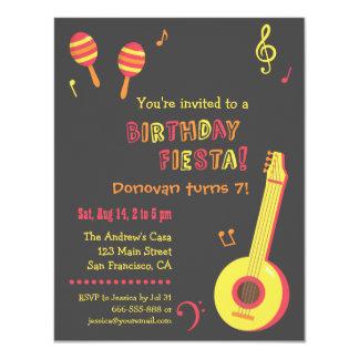 La fiesta mexicana embroma invitaciones de la invitación 10,8 x 13,9 cm