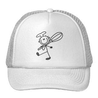 La figura cocinero del palillo con bate las camise gorra