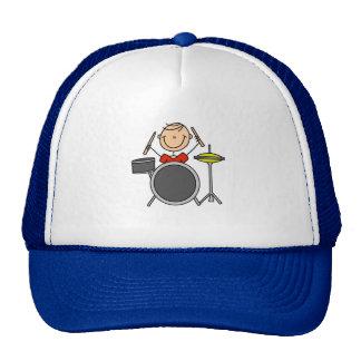 La figura del palillo teclea el gorra