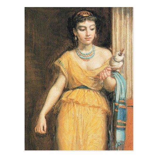 La FiLEUSE, por John William Waterhouse, 1874 Postal