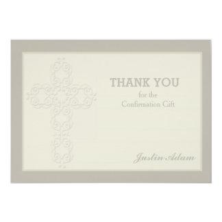 La filigrana cruzada religiosa le agradece