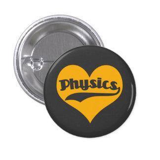 La física de la ciencia del amor chapa redonda 2,5 cm