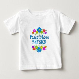 La física del amor de la paz camiseta de bebé