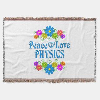La física del amor de la paz manta tejida