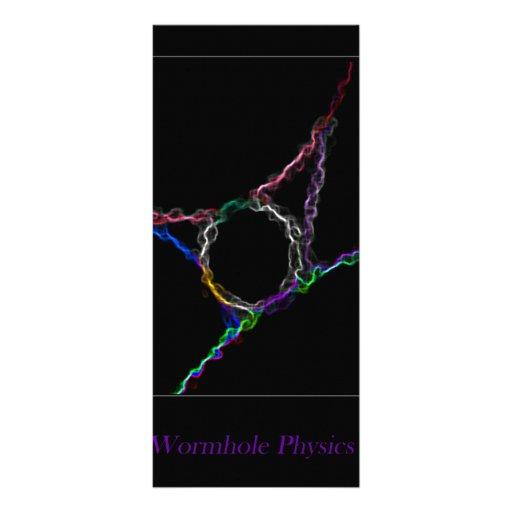 La física del Wormhole Lona Publicitaria