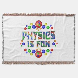 La física es diversión manta tejida