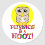 La física es un pitido pegatina redonda