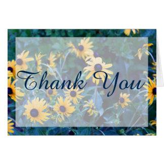 La flor amarilla Editable le agradece cardar/nota Tarjeta De Felicitación