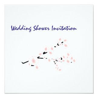 La flor de cerezo favorece las ideas, casando tema invitación 13,3 cm x 13,3cm