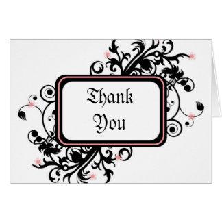 La flor de cerezo le agradece tarjeta de felicitación