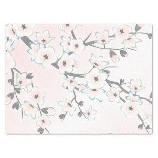 La flor de cerezo se ruboriza moda de la menta papel de seda