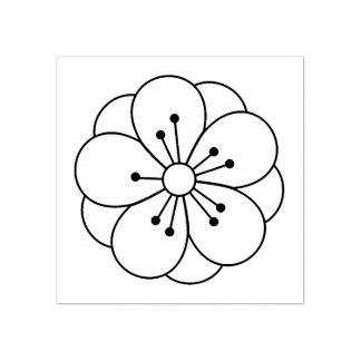 La flor de la flor de cerezo de Sakura me colorea Sello De Caucho