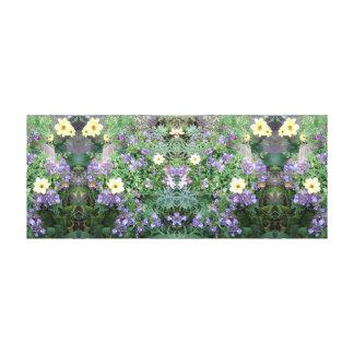 La flor de la foto 771 Dapple el panel del espejo Lienzo