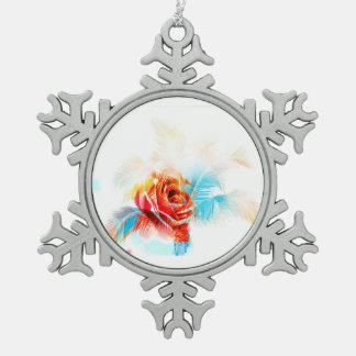 ¡La flor de la nieve! Energía de la Adorno De Peltre En Forma De Copo De Nieve