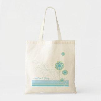 La flor de la nieve remolina bolso de encargo del bolsa tela barata