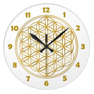 La FLOR DE LA VIDA - oro - cara de reloj numera