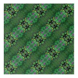 La flor del césped Dapple la diagonal del fractal Impresión Acrílica