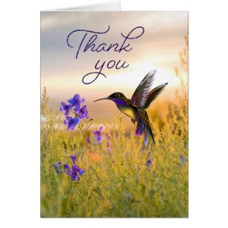 La flor del colibrí le agradece las tarjetas de
