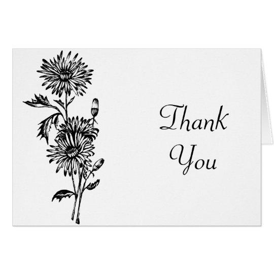 La flor le agradece cardar tarjeta de felicitación