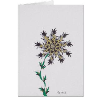 la flor moderna j consigue bien pronto tarjeta de felicitación