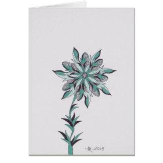 La flor moderna k consigue bien pronto tarjeta de felicitación