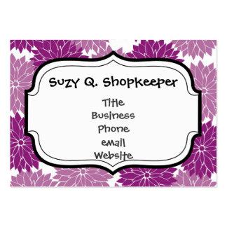 La flor violeta púrpura de la lavanda florece flor plantilla de tarjeta personal
