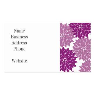 La flor violeta púrpura de la lavanda florece tarjetas de visita