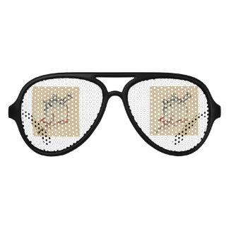 la flora de la flor del vintage personaliza gafas de fiesta de aviador