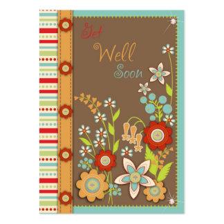 La floración consigue pronto Notecard bien Plantillas De Tarjetas Personales