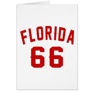 La Florida 66 diseños del cumpleaños Tarjeta De Felicitación