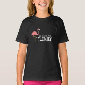 La Florida del chica el flamenco del rosa del Camiseta