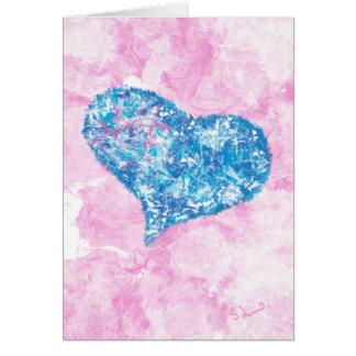 La forma de mi corazón - tarjeta de felicitación