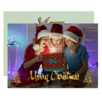 La foto adaptable de la tarjeta de Navidad embroma Invitación 12,7 X 17,8 Cm