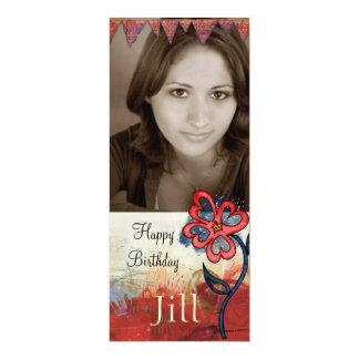 la foto adolescente del cumpleaños del chica invitación 10,1 x 23,5 cm