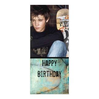 la foto adolescente del muchacho invita invitación 10,1 x 23,5 cm