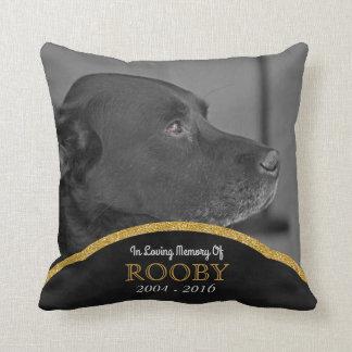 La foto conmemorativa del mascota personalizó cojín decorativo