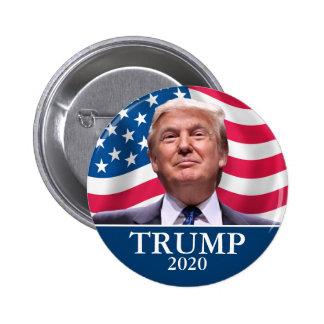 La foto de Donald Trump - presidente 2020 - Chapa Redonda De 5 Cm