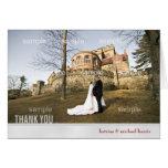 La foto de la bodas de plata le agradece cardar tarjeta
