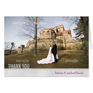 La foto de la bodas de plata le agradece cardar tarjeta de felicitación