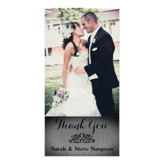 La foto de la bodas de plata le agradece postal