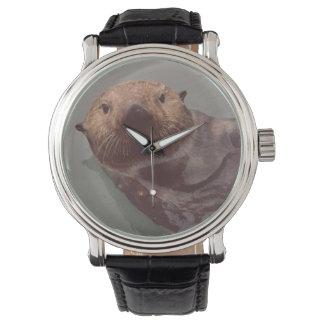 La foto de la nutria de Alaska diseñó el reloj