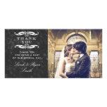 La foto de la pizarra y del boda del remolino le a plantilla para tarjeta de foto