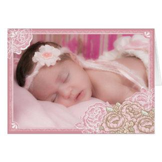 La foto de los rosas de la col del vintage le tarjeta de felicitación