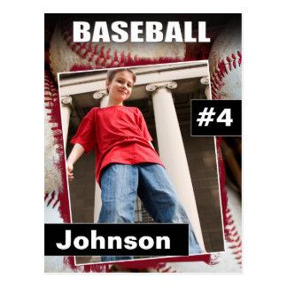 La foto del béisbol se divierte la tarjeta de postal