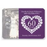 La foto del boda del corazón del diamante 60 años  anuncios personalizados