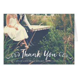 La foto del boda le agradece cardar tarjeta de felicitación