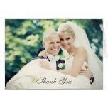 La foto del boda le agradece estilo doblado el   d