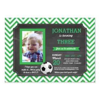La foto del cumpleaños de Footy del fútbol del Invitación 12,7 X 17,8 Cm