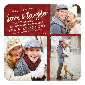La foto del día de fiesta del amor y de la risa invitación 13,3 cm x 13,3cm